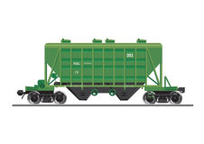 Rail car for construction materials. Mode of transport isolated on white. Transportation industry vector illustration royalty free illustration