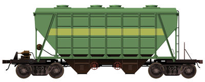 The rail car Royalty Free Stock Photography