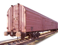 Rail car. Paths Royalty Free Stock Photography