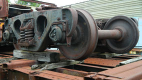 Rail Car Wheels Stock Photo