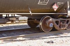 Rail car wheels Stock Photography