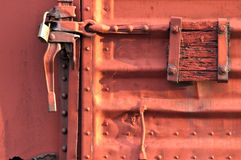 Rail carriage door Stock Photo