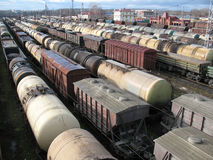 Rail cars Royalty Free Stock Image