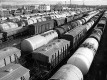 Rail cars Stock Images