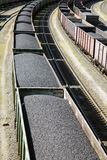 Rail cars loaded with coal. Royalty Free Stock Image