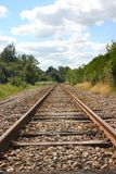 Rail in the countryside. Rail to unknown in the french countryside stock photography
