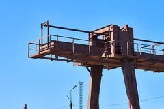 Rail Crane At The Factory Royalty Free Stock Photography