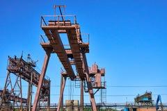 Rail crane at the factory Royalty Free Stock Photo