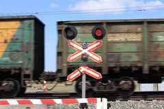 Rail crossing Stock Images