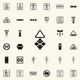 rail crossing icon. Railway Warnings icons universal set for web and mobile royalty free illustration