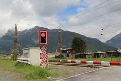 Rail crossing Stock Image