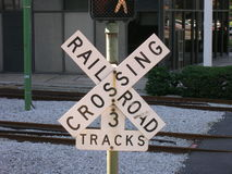 Rail crossing sign Royalty Free Stock Photos
