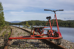 Rail-cycle draisine Royalty Free Stock Photography
