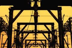 Rail de grue Photographie stock