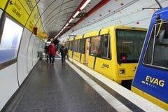 Rail de lumière d'Essen Photo stock