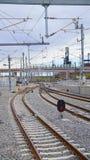 Rail de lumière de Denver photographie stock libre de droits