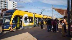 Rail de lumière de GoldlinQ dans l'Australie de la Gold Coast Photo stock