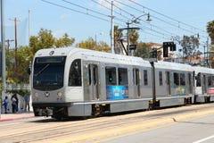 Rail de métro à Los Angeles Photos libres de droits