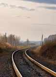 Rail de route d'automne Photos libres de droits