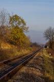 Rail de route d'automne Photos stock