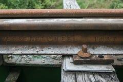 Rail de train Photos stock