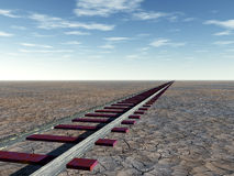 Rail in the Desert Royalty Free Stock Photography