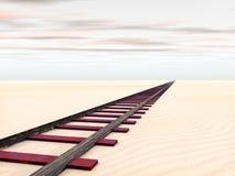 Rail in the Desert Stock Images