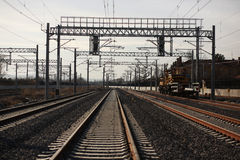 Rail and electrical systems Royalty Free Stock Photos