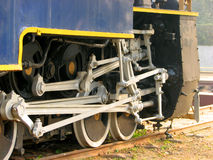 Rail  Engine Wheels Stock Photo