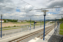 Rail facilities. In the city stock images