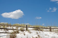 Rail Fence on Sand Dune Royalty Free Stock Photography