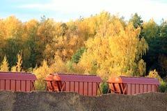 Railway cargo transportation Stock Images