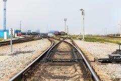 Rail freight terminal Stock Photo