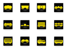 Rail-freight traffic icons Stock Images