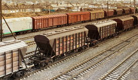 Rail freight Stock Photography