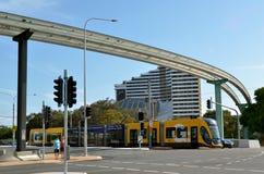 Rail G - Australie de lumière de la Gold Coast du Queensland Images libres de droits