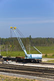 Rail gantry crane Stock Images
