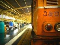 Rail jaune Photographie stock libre de droits