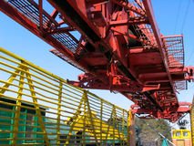 Rail-laying crane. Rail-laying  crane Royalty Free Stock Photography