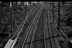 Rail life. How this rails can show us life is a longer way to our destinies Royalty Free Stock Photos