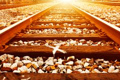 Rail line Royalty Free Stock Images