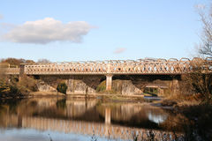 Rail line over the Ribble. Stock Photography