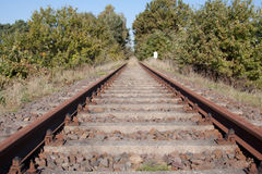 Rail line shut down Royalty Free Stock Photos