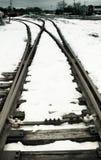 Rail line in snow Stock Image