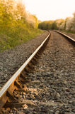 A rail line at sunset Royalty Free Stock Photo