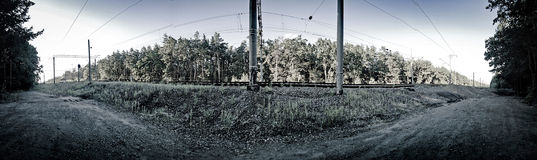 The rail lines Royalty Free Stock Photography