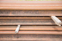 Rail. The material of the rail Stock Image