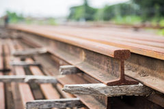 Rail. The material of the rail Stock Images
