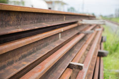 Rail. The material of the rail Stock Photo