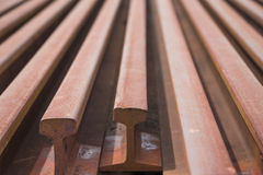 Rail. The material of the rail Stock Photos